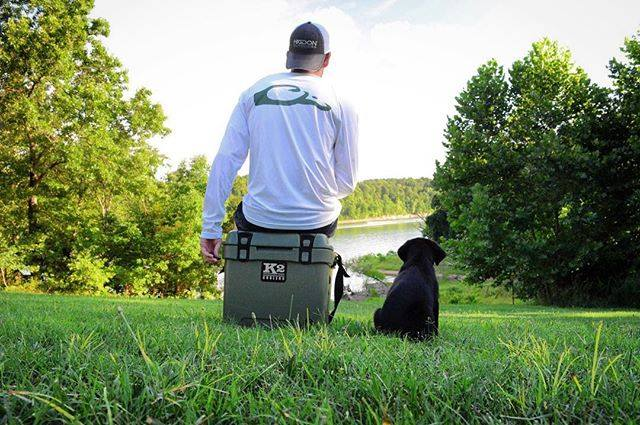 k2 cooler, k2, yeti, grizzly, pelican, ice, cold, ice retention, rotomolded, mossy oak, puppy, best friend